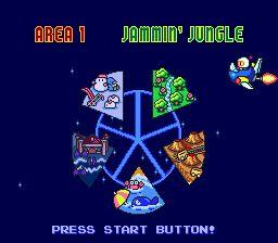 Bomberman llegando al mundo partido para reconstruirlo.