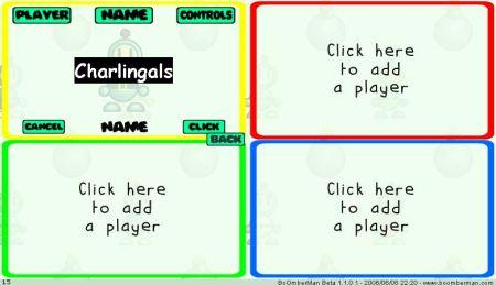 Configuración de jugadores.