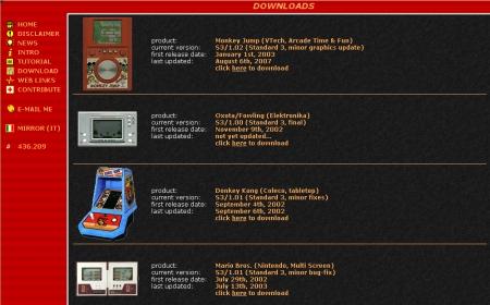 Lista de juegos simulados.