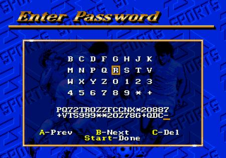 Password FIFA International Soccer.