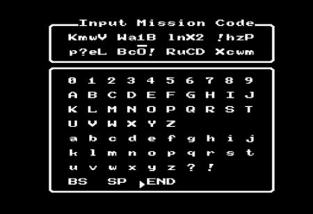 Password Rambo de la NES
