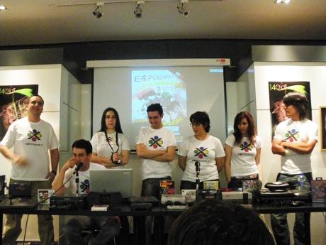 Imagen de la charla de presentación Expogames 2009.