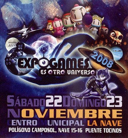 Publicidad de la Expogames del 2008.