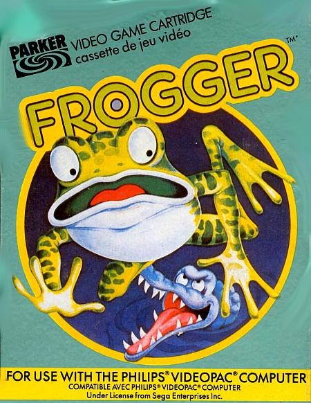 Portada del juego Frogger.