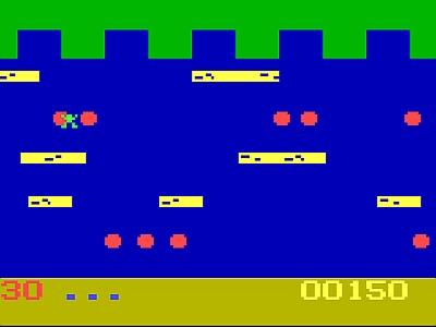 Una rana que tiene que cruzar el rio sin tocar el agua.  X-D