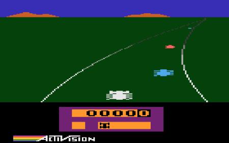 Carreras de escarabajos, digo, el Enduro de Atari 2600. XDDD