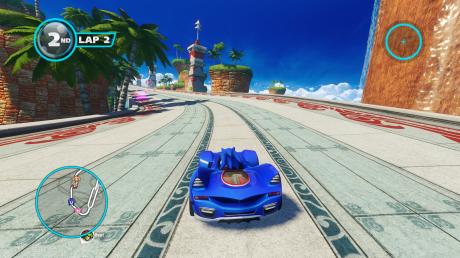 Sonic corre en coche. ¬¬